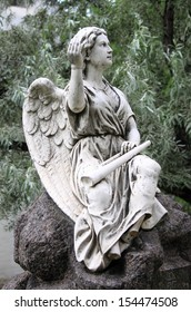 Cherub angel with trumpet