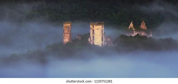 Chervonohorod Castle ruins (Nyrkiv village, Ternopil region, Ukraine)