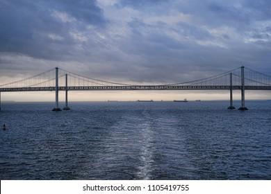 Chesapeake Bay Bridge from Cruise ship