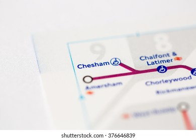 Chesham Station. Metropolitan Line. London. UK.