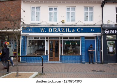 Chesham, United Kingdom - December 29 2018: Old Fashioned Shop Front