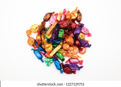Cheshire, England - November 11th, 2018: Nestle Quality Street on white background