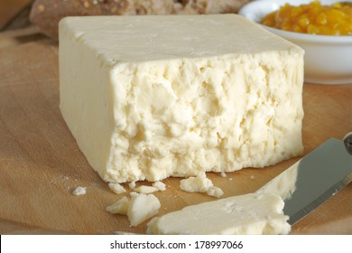 Cheshire a traditional dense and crumbly white British cheese one of the oldest recorded named cheeses in British history