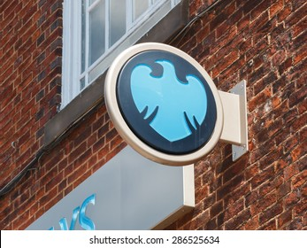Cheshire,UK - June 4th 2015: Barclays Bank  has been forced to pay millions in compensation for financial scandals in the UK. Barclays logo and sign.