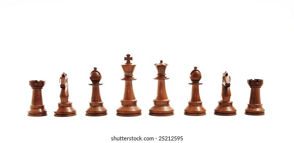 Chess - black figures on white background