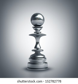 Chess black pawn. High resolution. 3D image
