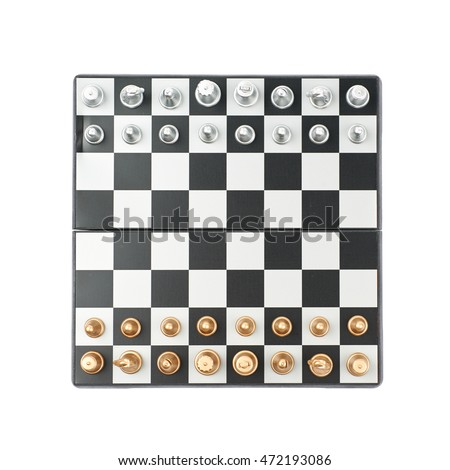 Chess Board Figures Set Up Composition Stock Photo Edit Now