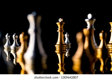 chess board game black background business strategy solution ideas concept