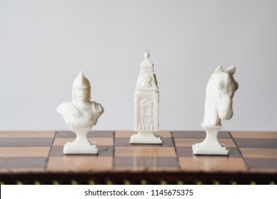 Chess Board Game Close Up - Strategy