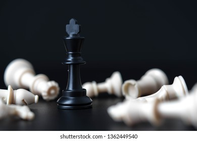 chess board game for ideas and competition and strategy busines success