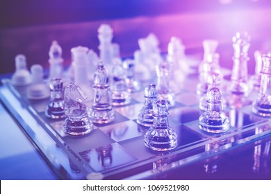 chess board game for plan strategy thinking, business planning success concept