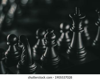 Chess board game. Strategy ideas concept business futuristic graphic icon.