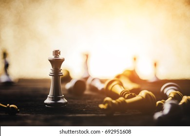 chess board games business and creativity ideas concept