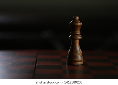 Chess board and the king