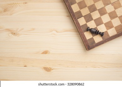 Chess board and piece. Concept of strategy, winning or losing.