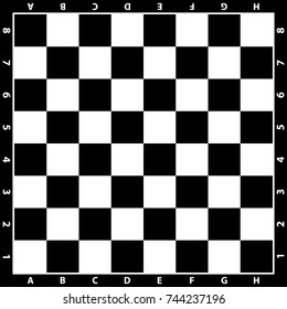 Chess board vector. Wooden chess board. Chess background. Chessboard illustration.