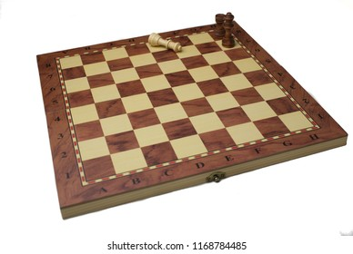 Chess board, whites defeated, isolated on white background