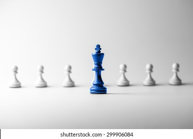 Chess business concept, leader & success