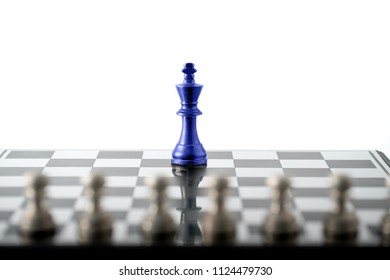Chess business concept, leader teamwork & success