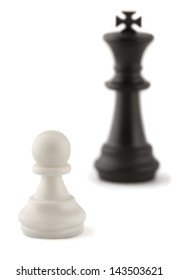 Chess combination - white pawn against black king