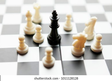 Chess, the concept of game, the strategy of success.
