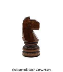 Chess figure a horse on the isolated white background