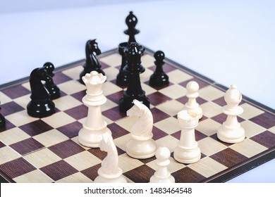 chess figure on board game concept for competition and strategy.