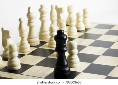 Chess game. Checkmate and stalemate