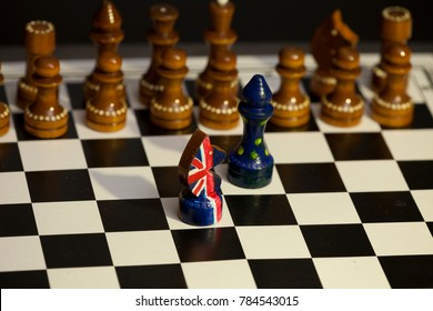 chess game Great Britain and the European Union, Brexit British and European confrontation