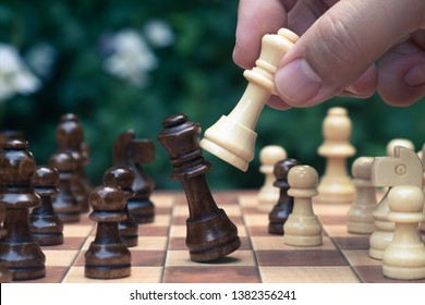 Chess game. A move to kill. Refer to business strategy and competitive concept.