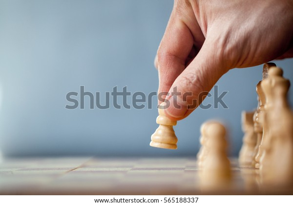 Chess Game Player Makes Move White Stock Photo (Edit Now