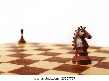 Chess - Horse and pawn