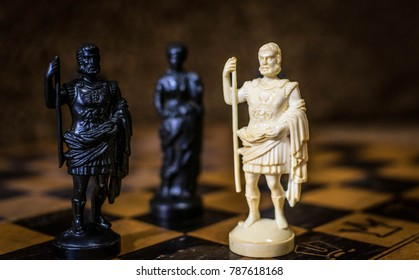 Chess. Lonely white king