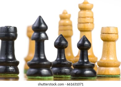 Chess made of wood