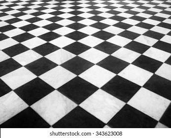Chess marble floor
