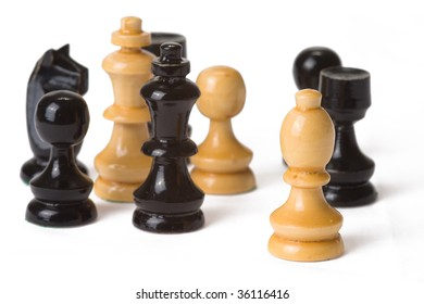 the chess on white background