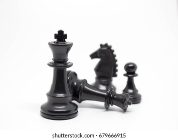 Chess on a white background
