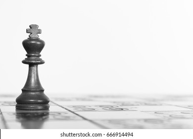 Chess photographed on a chess board
