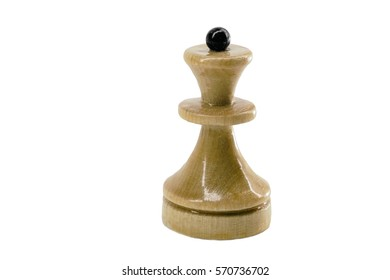 Chess piece Queen white isolated