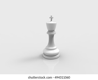 Chess pieces. 3D rendering.