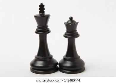 Chess pieces black king and black queen