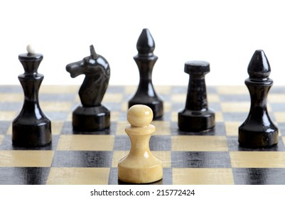 Chess pieces - concept business and unequal fight