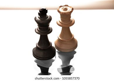 Chess Pieces King Queen Stock Photo Edit Now 1056709955 Shutterstock
