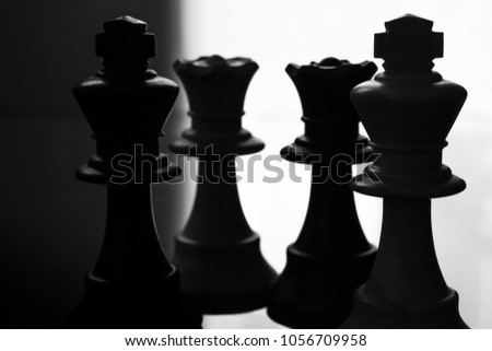 Chess Pieces King Queen Stock Photo Edit Now 1056709958 Shutterstock