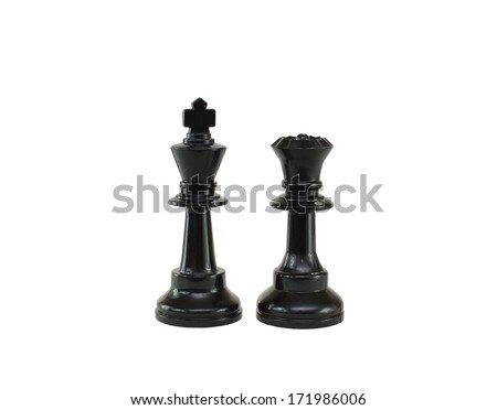 Chess Pieces King Queen Isolated On Stock Photo Edit Now 171986006