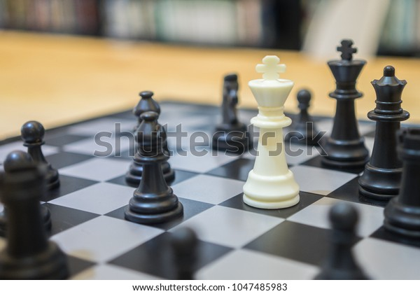 Chess Pieces On Board Ideal Leadership Stock Photo (Edit Now