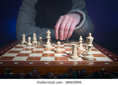 Chess player make a move