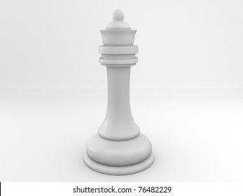 Chess queen isolated on white