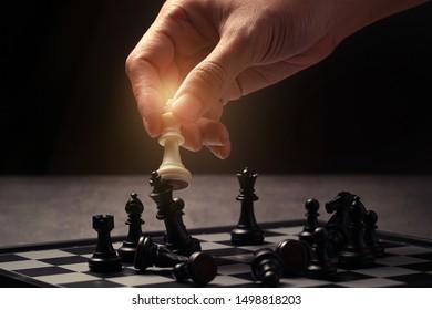 chess strategy white king kick the black king