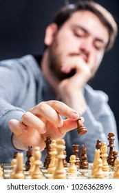 Chess and young man